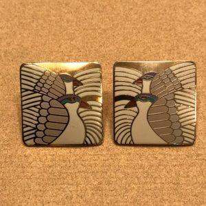 Vintage Laurel Burch Moondove earrings